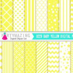 Baby Yellow Basic Digital Paper Pack| E242