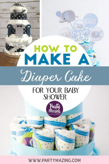 How to Make a Diaper Cake for a Baby shower
