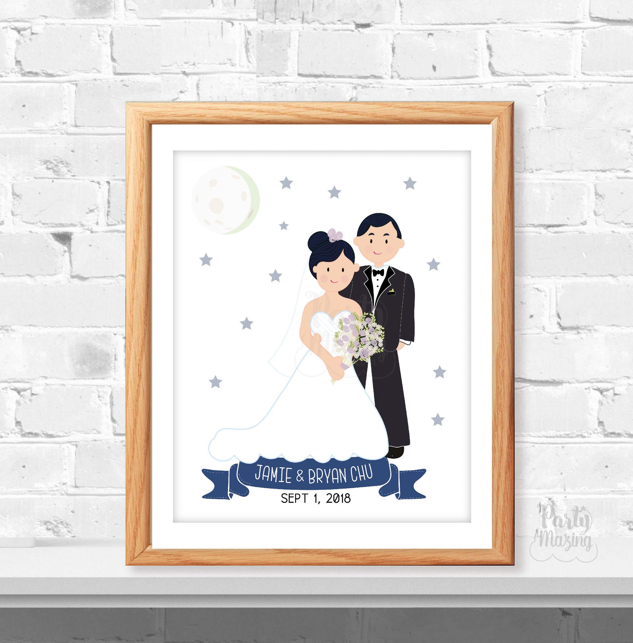Wall Art-NO FRAME CHOOSE ONE Gift Personalised A4 Print Wedding Dress Bride