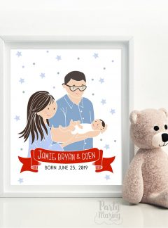 Custom Family Portrait illustration E369