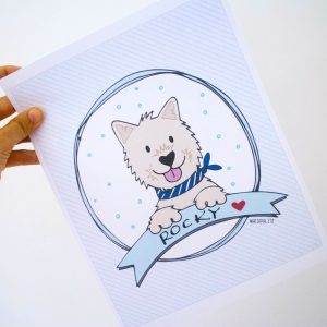 Hand Drawn Custom Pet Portait, Custom Family Portrait,  hand-drawn  Dog or Cat Portrait  for a  pet lover gift Cartoon Style | E196