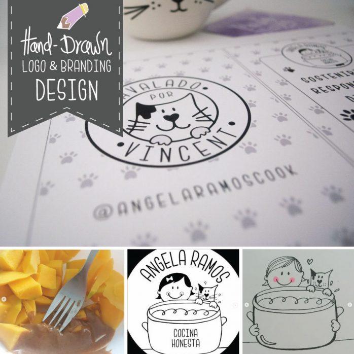 Hand-drawn Style Custom Logo & Branding Design | Modern Minimalistic Logo Made to Order | E197
