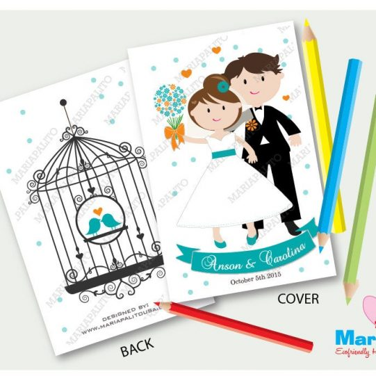 Printable Coloring Books, Personalized Children's Activity Booklet, Party Favors for you to Print| Reception Table Favor | E373