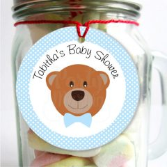 Printable Teddy Bear Party Favor Gift Tag | E263
