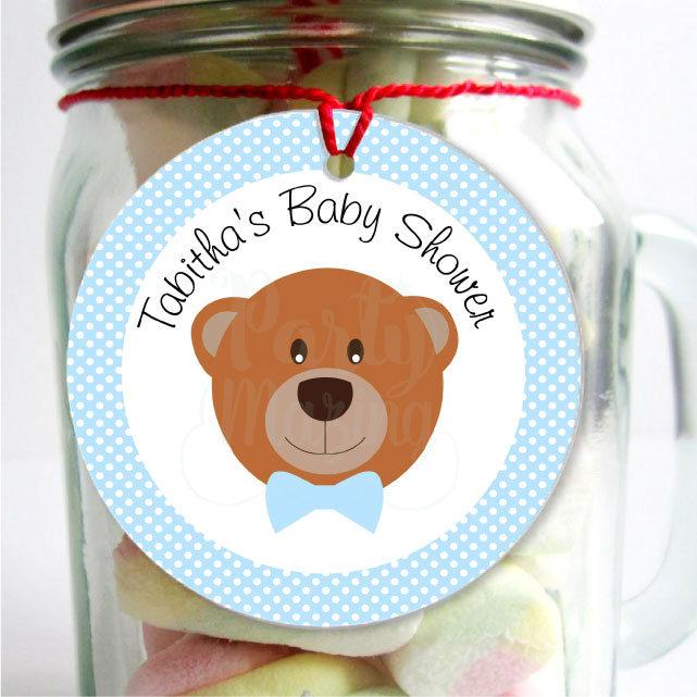 Printable Teddy Bear Party Favor Gift Tag | E263
