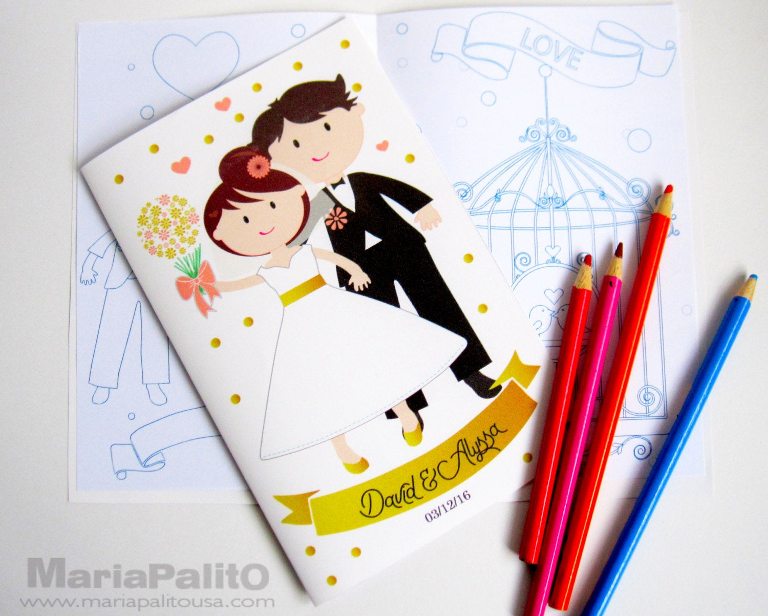 - Printable Wedding Coloring Books, Children's Activity Booklet