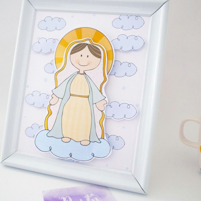 Virgin DIY 3D Shadow Box Papercutting Template Printable PDF With Step-by-Step Tutorial   E195