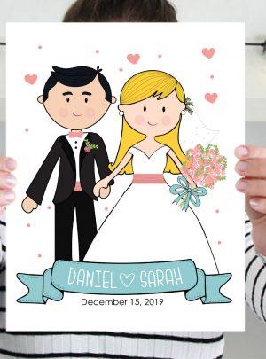 Wedding Day Portrait Poster E400