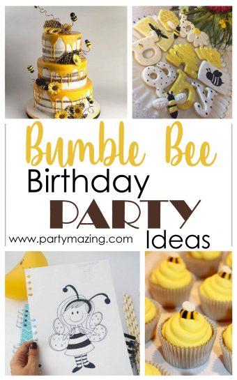 12 Wonderful Bumble Bee Birthday Party Ideas