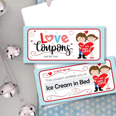 Editable Love Coupon Booklet Gift for Him or for Her| Creative Craft Gift Couple |  E064