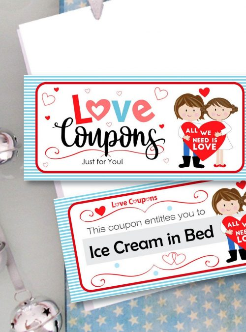 Editable Love Coupon Booklet Gift for Him or for Her| Creative Craft Gift | Couple Gift | Girlfriend, Boyfriend or Anniversary Gift |  E064