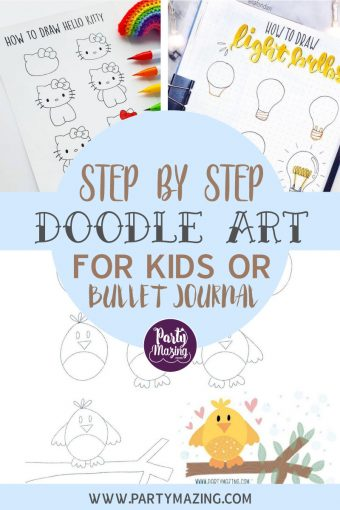 +17 CUTE DOODLE ART STEP BY STEP FOR KIDS AND BULLET JOURNAL