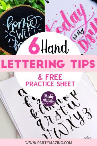 6 Hand-Lettering Basic Tips and Free Lettering Sheet by letteringbylt