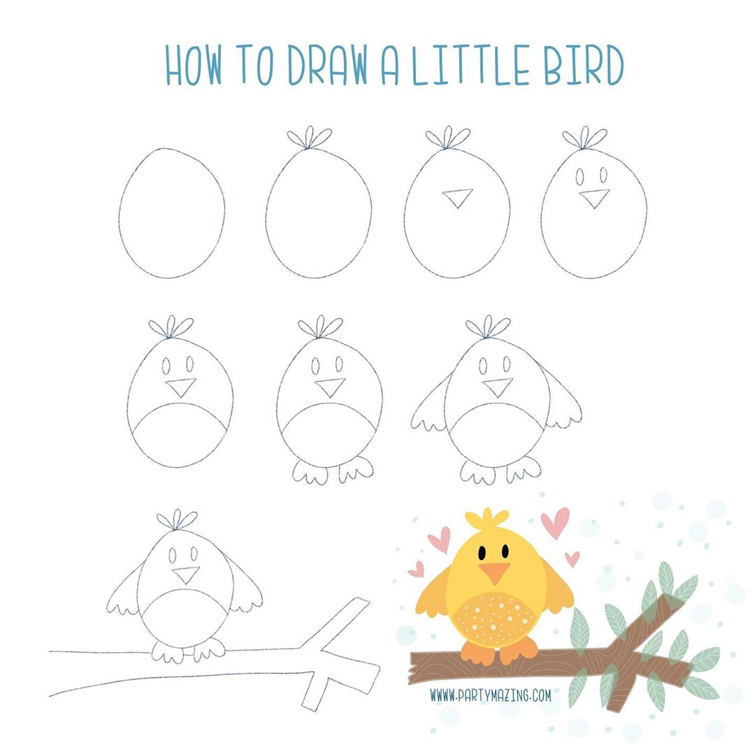 Want to learn how to doodle a cute bird? +17 DOODLE ART IDEAS FOR KIDS AND BULLET JOURNAL - Learn how to create basic doodles for your kids or for your planner. Enjoy!
