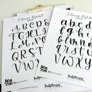Lettering Sheet by letteringbylt