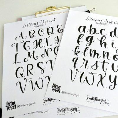Lettering Sheet by letteringbylt