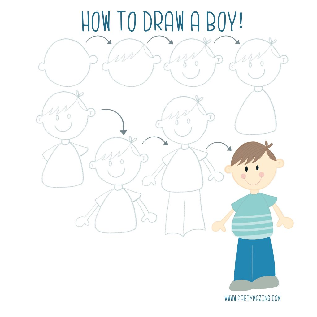 Want to learn how to doodle a little boy? +17 DOODLE ART IDEAS FOR KIDS AND BULLET JOURNAL - Learn how to create basic doodles for your kids or for your planner. Enjoy!