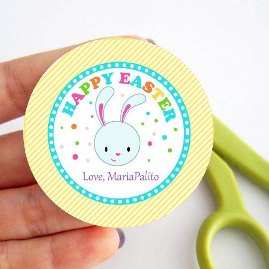 Cute Easter Printable Tag | Editable Happy Easter Printable Tag | HOEA1 | E449