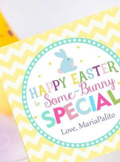 Editable Happy Easter Some-Bunny Special Printable Gift Tag | E137