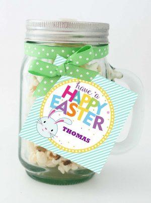 Cute Easter Bunny Tags | Editable Printable Tag for Boys and Girls | E128