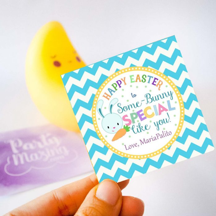 Cute Editable Some-Bunny Special Boy Easter Gift Tag or your Party Favor Labels | E135