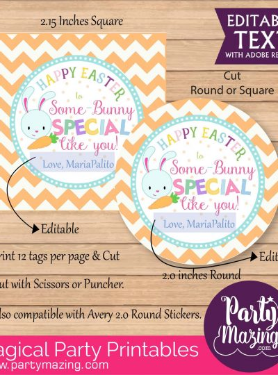Happy Easter Printable Favor Tag | E130