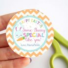 Cute Editable Text Easter Gift Tag   Happy Easter Tag  Bunny Cupcake Topper  Some-Bunny Special tag   Printable Easter Tag  HOEA1   E130