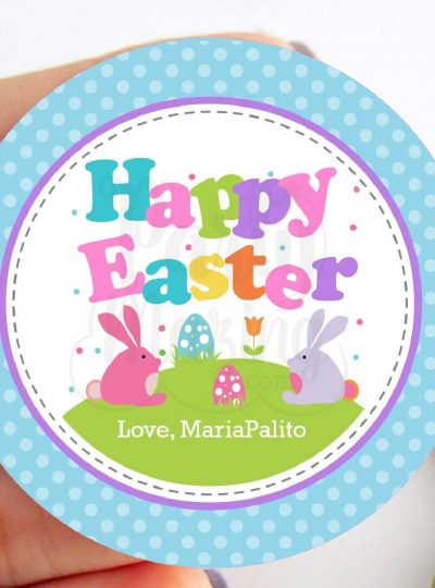 Little Bunny Easter Party Printable Favor Tag E160