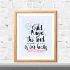 For this child we have prayed sign |1 Samuel 1:27 | Handrawn Printable Cute Kids Scripture Wall Decor Print | Nursery Quote Sign | E442