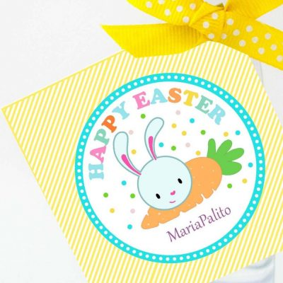 Cute Easter Tag | Printable Editable Party Favor| Cute Easter Bunny Gift Tag for Egg hunt or Classroom Gifts |HOEA1 | E129