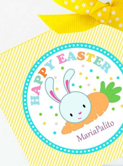 Happy Easter Printable Party Favor Tag E129