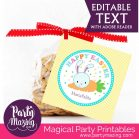 Happy Easter Tag   Editable Party Favor  Printable Cute Easter Bunny Tag  Yellow Kid Gift Tag for Egg hunt or Classroom Gifts  HOEA1   E129