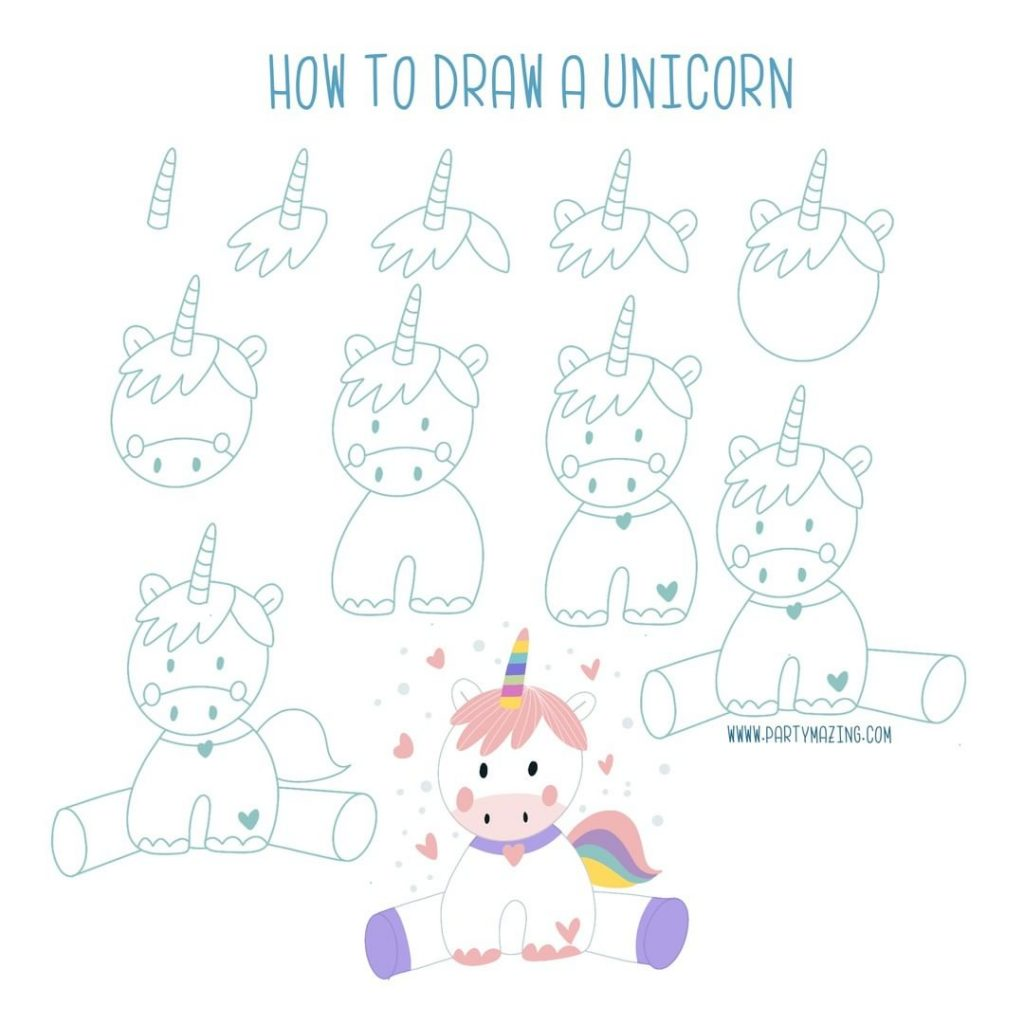 Want to learn how to doodle a cute unicorn? +17 DOODLE ART IDEAS FOR KIDS AND BULLET JOURNAL - Learn how to create basic doodles for your kids or for your planner. Enjoy!