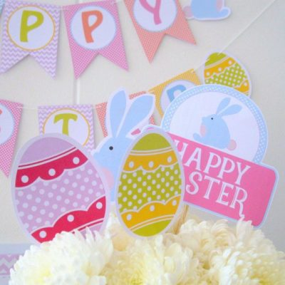 Printable Easter Party Set| Happy Easter Party| Egg Hunt Party | Diy Party Package| Party Decoration Kit | Instant Download | HOEA1 | E016