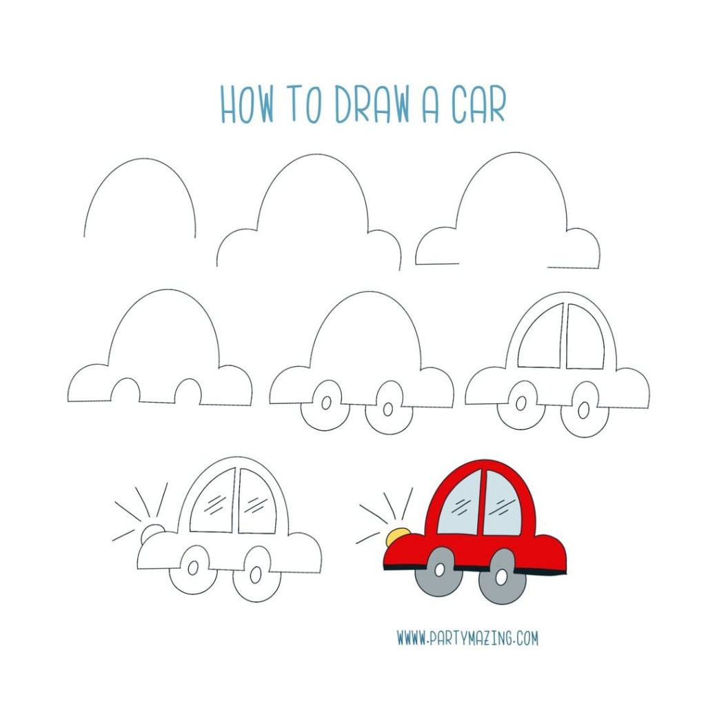 Want to learn how to doodle a cute car? +17 DOODLE ART IDEAS FOR KIDS AND BULLET JOURNAL - Learn how to create basic doodles for your kids or for your planner. Enjoy!