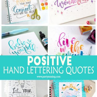 Positive Hand Lettering Motivational Qoutes