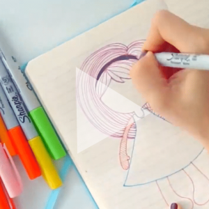 How to Draw a Doll using Markers – Video Process
