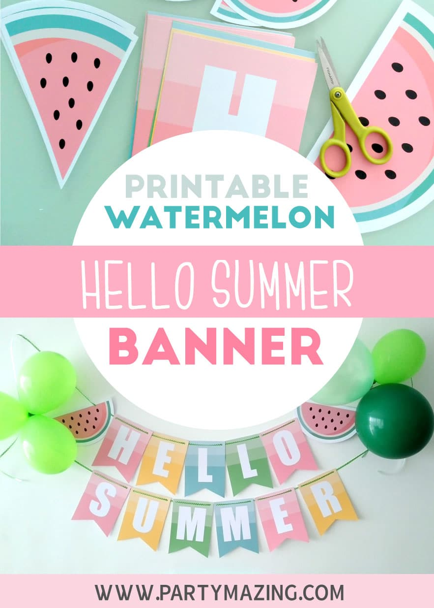 Hello Summer Watermelon Printable Party Set