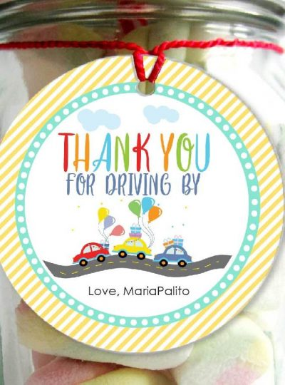 Driving Parade Driving By Favor Tags | E500