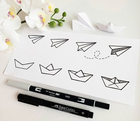 +17 DOODLE ART IDEAS FOR KIDS AND BULLET JOURNAL - Learn how to create basic doodles for your kids or for your planner. Enjoy!