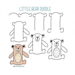 How to Draw a Little Bear – Step by Step Doodle Tutorial