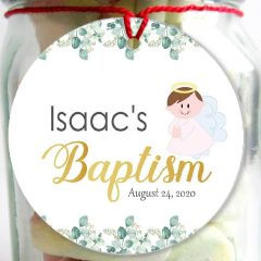 Angel Baptism Gifts Tags | Printable Cute Little Angel Labels | PK06 | E465