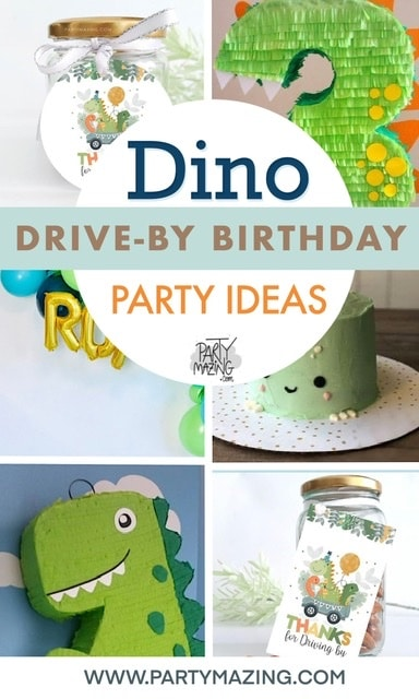 Time for a new idea for your drive by birthday parade for your kids. Here I bring you some Dino Drive-By Birthday Parade Ideas cover