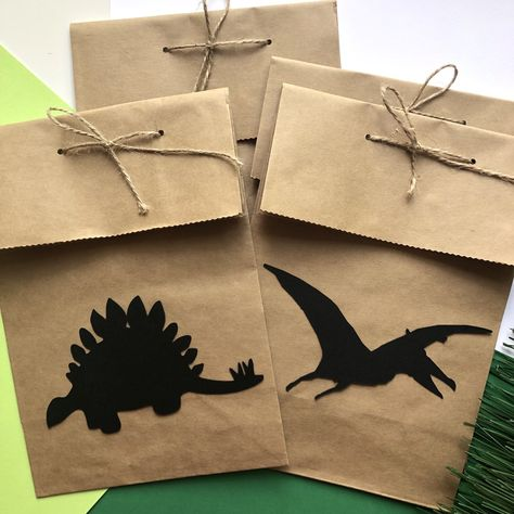 Dino party favor boxes