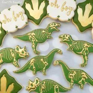 Dino shaped cookies