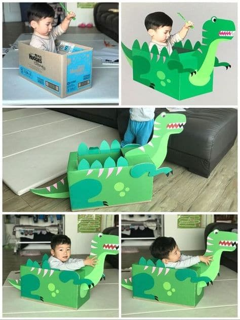 Dino Box Game, Time for a new idea for your drive by birthday parade for your kids. Here I bring you some Dino Drive-By Birthday Parade Ideas