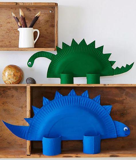 Dino Craft ideas using paper plates