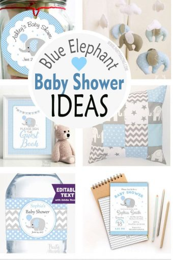 Boy Elephant Baby Shower Ideas + Party Collection