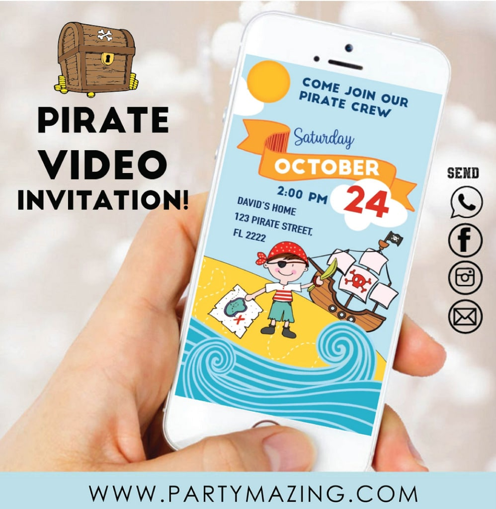 Pirate Video Invitation