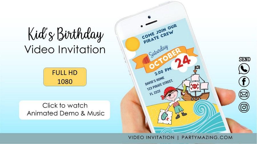 Kids video invitation